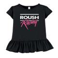 Roush Racing Black Ruffle Toddler Tee (3546)