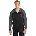 Roush Moisture Wicking Blk/Gray Varsity Full Zip Hoodie (3540)
