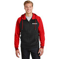Roush Moisture Wicking Blk/Red Varsity Full Zip Hoodie (3541)