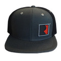 Roush Square R Charcoal/Black Flat Bill Hat (3586)
