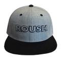 Roush Light Gray/Black Flat Bill Hat (3587)