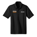 Roush P-51 Black Snag Resistant & Moisture Wicking Polo (3572)