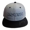 Roush Signed Light Gray/Black Flat Bill Hat (3614)
