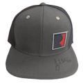 Roush Signed Square R Charcoal/Black Flat Bill Hat (3612)