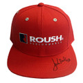 Roush Performance Signed Red Flat Bill Hat (3613)