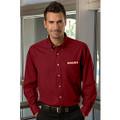 Roush Mens Cardinal Red Long Sleeve Dress Shirt (3629)