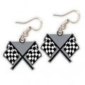 Checkered Flag Dangle Earrings (3653)