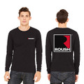 Roush Unisex Dark Heather Gray Square R Long Sleeve Shirt (3669)