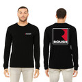 Roush Unisex Black Square R Long Sleeve Shirt (3670)
