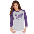 Roush Racing Purple Ladies Baseball 3/4 Sleeve Shirt (3657)