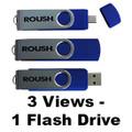 Roush Blue Ultimate 8 GB Flash Drive (3719)