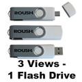 Roush White Ultimate 8 GB Flash Drive (3720)