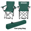 Roush Hunter Green Folding Chair with Cup Holders (3709)