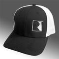 Roush Black/White Square R Mesh Back Flex Fit Hat (3740)