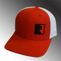 Roush Red/White Square R Mesh Back Flex Fit Hat (3818)