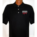 Roush Racing Mens Black Polo (2 Color Logo) (1472)
