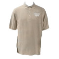 Roush Racing Mens Tan Polo (White Logo) (1475)
