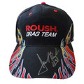 Roush Drag Team Flame Signed Hat (1545)