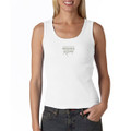 Roush Racing White Ladies Ribbed Tank Top (1608)