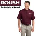 Roush Mens Burgundy Short Sleeve Dress Shirt (1804)