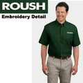 Roush Mens Dark Green Short Sleeve Dress Shirt (1805)