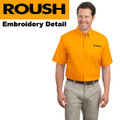 Roush Mens Yellow Short Sleeve Dress Shirt (1807)