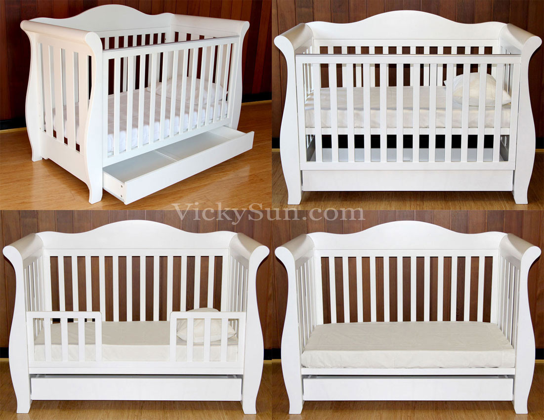 Displaying 16> Images For - White Toddler Sleigh Bed...