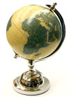 35CM High World Map Globe with Nickel Stand