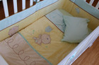 6 Piece Baby Nursery Embroidered Cot Bedding Set Treacle and Bubble
