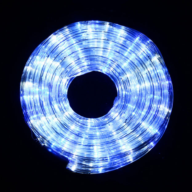 VickySun.com - LED 10M Christmas Blue and White Rope Lights with 8 Functions (36V Safe Voltage)