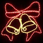 Animated 63CM Bells with Bow Christmas Motif Rope Lights