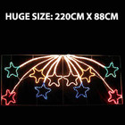 Animated 220CM LED 10 Stars Christmas Motif Rope Lights