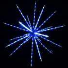 102CM 160 Blue amd White LED Hanging Blast Ice Star Ball Christmas Light Decoration