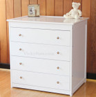 White Wooden 4 Chest of Drawers