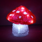 16CM 3D Acrylic Mushroom with White LED Christmas Lights (Battery Operated)