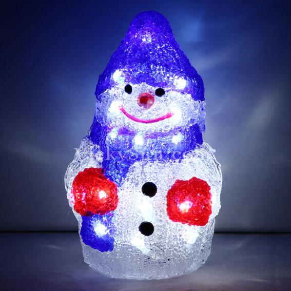 Vickysun Com Battery Operated 23cm 3d Acrylic Snowman