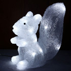 27CM 3D Acrylic Sitting Squirrel with White 24 LED Christmas Lights
