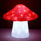 27CM 3D Acrylic One Red Mushroom with 48 White LED Christmas Lights