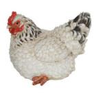 25CM White Hen Polyresin Garden and Home Decor