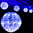 3.2M 20CM 4 Balls LED Blue Christmas Lights with 8 Functions