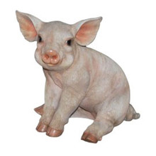 24CM Small Piglet Polyresin Garden and Home Decor