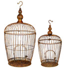 80CM Set of 2 Hanging Bird Cages Steel Garden and Home Wall Decor