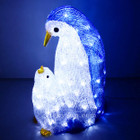 49CM 3D Acrylic Mother and Baby Penguin Christmas Lights