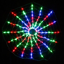 128 LED Multi Colour Circle Net Christmas Lights with Rotation Function 75CM