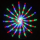 256 LED Multi Colour Circle Net Christmas Lights with Spiral Rotation Function 150CM