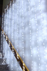 400 LED White Wedding Curtain Backdrop Lights with Waterfall Memory Functions 2.4M X 2.4M