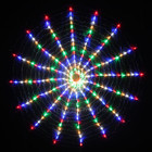 256 LED Multi Colour Circle Net Christmas Lights with Spider Web Function 150CM