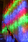 400 LED Multi Colour Wedding Curtain Backdrop Lights with Waterfall Memory Functions 2.4M X 2.4M