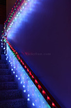 LED Multi Colour Wedding Net Lights with Stars Waterfall Functions