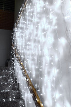 576 LED White Wedding Curtain Backdrop Lights with Open Close Door Functions 3M X 3M